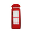 cartoon icon of london red telephone box vector image