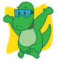 Dinosaur Happy vector image