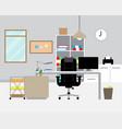 workspace - modern office vector image