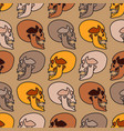seamless background with human skulls vector image