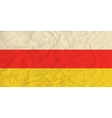 South Ossetia paper flag vector image