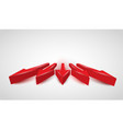 3d realistic red arrows vector image