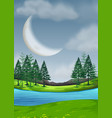 a beautiful nature landscape vector image vector image