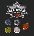 all star game logo emblem vector image vector image