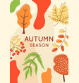 autumn scenery abstract poster template vector image