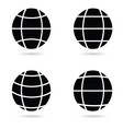 ball silhouette vector image vector image