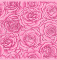 beautiful vintage seamless pattern with pink roses vector image vector image