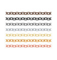 big collection different metal chain seamless vector image vector image