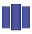 blue vertical banner templates vector image vector image