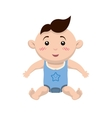 Boy cartoon icon Baby concept graphic vector image vector image