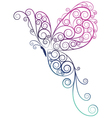 Butterfly ombre vector image