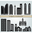 Calgary landmarks and monuments vector image vector image