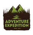 camping mountain adventure logo emblems template vector image