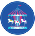 carousel with horses colorful icon vector image