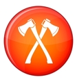 Chainsaw icon flat style vector image vector image
