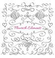 classic elegant flourish decorative elements vector image