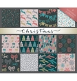 Collection of nine hand drawn winter holidays vector image vector image