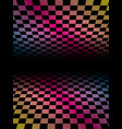 colored grids background pattern rainbow colored vector image vector image