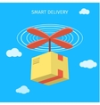 Concept for delivery service vector image vector image