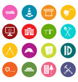 construction icons many colors set vector image vector image