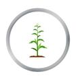 Corn icon cartoon Single plant icon from the big vector image