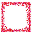 corolful red paper heart frame background vector image vector image