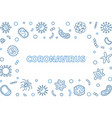 coronavirus or corona virus outline concept vector image