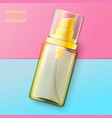 cosmetic spray on bright paper background vector image vector image