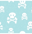 Crossbones pattern blue vector image