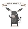 Cute cartoon donkey vector image