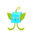 Cute fantastic plant character square shape