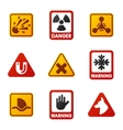 Danger warning attention sign icons vector image vector image