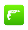 drill icon digital green vector image vector image