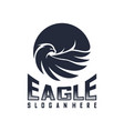 eagle logo design flying eagle logo template vector image vector image