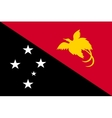 Flag of Papua New Guinea correct size color vector image