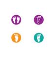 foot therapist logo vector image vector image