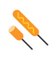 fried sausages sticks food and gastronomy set vector image vector image