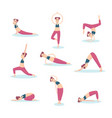 girl practicing basic exercises yoga vector image