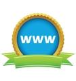 Gold www logo vector image vector image