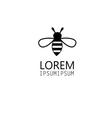 graphics icon bee isolated vector image