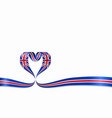 great britain flag heart-shaped ribbon vector image vector image