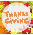 Hand Drawn Happy Thanksgiving Card Template With vector image vector image