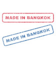 made in bangkok textile stamps vector image vector image