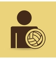 man silhouette volley ball design vector image vector image