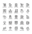 market and economy line icons vector image vector image