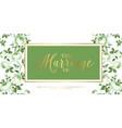 marriage invitation card vector image vector image