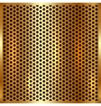 metallic gold cell background vector image vector image
