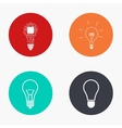 modern idea colorful icons set vector image vector image
