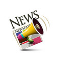 News icon symbol with newspapers and megaphone