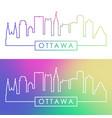 ottawa skyline colorful linear style editable vector image vector image